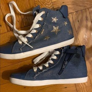 Geox sneakers gold stars sparkle